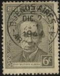 Sellos de America - Argentina -  Juan Bautista Alberdi. 1810 - 1884. Economista, destacado jurista, político, escritor y músico. Auto