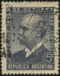 Stamps Argentina -  Dr. José C. Paz, 1842-1912. Diputado, diplomático fundador del diario La Prensa.