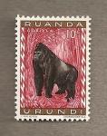 Stamps Africa - Rwanda -  Gorila