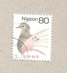 Stamps Japan -  Ave cola marrón