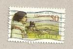 Stamps United States -  Primeros americanos que cruzaron desde Asia