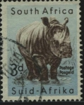 Stamps : Africa : South_Africa :  Rinoceronte