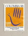 Stamps Colombia -  IV Exposición Bolivariana filatelia