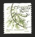 Stamps : Europe : Sweden :  fruta hojas de arce real