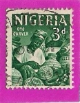 Stamps Africa - Nigeria -  Oyo Carver