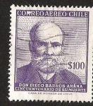 Sellos de America - Chile -  DON DIEGO BARROS ARANA - CINCUENTENARIO DE SU MUERTE