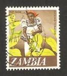 Sellos de Africa - Zambia -  recolectando tabaco