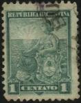 Stamps Argentina -   El sol naciente. La Libertad y el escudo Nacional Argentino. 1899 a 1903