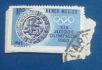 Sellos de America - México -  XIX Juegos Olímpicos 1968-Logotipo:Pok-a-tok-ballplayer(Juego Maya)
