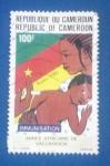 Stamps Africa - Cameroon -  Inmunización infantil - Año de Vacunación en Africa- Immunisation-Annee Africane de vaccination