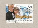 Sellos de Oceania - Australia -  50 años televisión