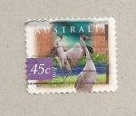 Stamps Australia -  Ave Grus rubicunda