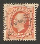 Stamps : Europe : Sweden :  oscar II, rey de suecia y de noruega