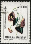 Stamps Argentina -  Flor del Patito. Aristolochia  littoralis.
