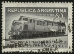 sellos de America - Argentina -  Conmemoración de los 100 años de los Ferrocarriles Argentinos.