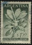 Sellos del Mundo : Oceania : Argentina : Rama y hojas de la Ilex Paraguariensis - yerba mate - . Recipiente también denominado mate y bombill