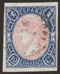 Stamps Europe - Spain -  Isabel II. - Edifil 70
