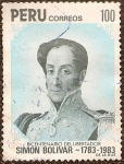 Stamps : America : Peru :  Bicentenario del Libertador Simón Bolívar 1783-1983