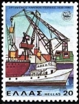 Stamps : Europe : Greece :  Ships in Port