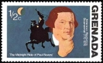 Stamps : America : Grenada :  Midnight Ride of Paul Revere