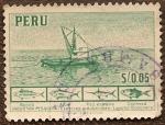 Sellos del Mundo : America : Perú : Industria Pesquera - Lancha Bolichera - Especies Industriales