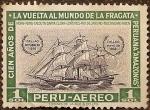 Stamps Peru -  Cien Años de la Vuelta al Mundo de la Fragata Peruana