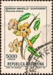 sellos de America - Argentina -  Guaran Amarillo - Guaranday (Tecoma Stans)