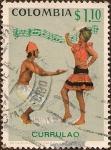 Stamps America - Colombia -  Currulao - Danzantes y Música.