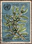 Stamps Vatican City -  25 Aniversario de las Naciones Unidas (1945-1970) - Ramas de Olivo