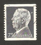 Stamps : Europe : Sweden :  rey gustave VI adolphe