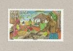Stamps Africa - Mayotte -  El mercado