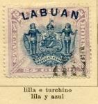 Sellos de Asia - Malasia -  Isla Lubuan Edicion1894