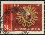Stamps Argentina -  150 años de la independencia del Perú.