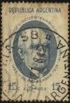 Stamps Argentina -  50 años del fallecimiento de Domingo Faustino Sarmiento. 1811 – 1888. Militar, político, docente, es