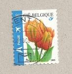 Sellos de Europa - Bélgica -  Tulipanes