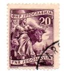 Sellos de Europa - Yugoslavia -  2º SERIE-1952-53-(Tipo 1950-51)