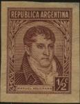 Sellos de America - Argentina -  Manuel Belgrano. Próceres y Riquezas Nacionales. Variedades de impresión.