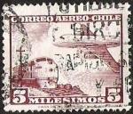 Sellos de America - Chile -  CORREO AEREO - TREN Y AVION