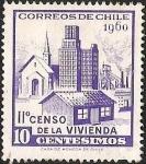 Sellos de America - Chile -  II° CENSO DE LA VIVIENDA