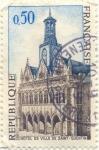Stamps France -  Hotel de ville de Saint Quentin