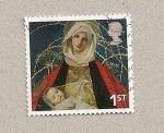 Sellos de Europa - Reino Unido -  virgen con niño