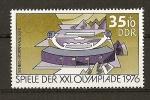Stamps : Europe : Germany :  DDR / 21 Juegos Olimpicos de Montreal.