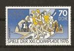 Sellos de Europa - Alemania -  DDR / 21 Juegos Olimpicos de Montreal.