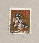 Sellos de Oceania - Nueva Zelanda -  Polilla de los líquenes