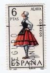 Stamps Spain -  Trajes Típicos. Alava