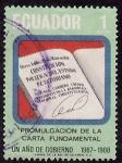 Sellos de America - Ecuador -  PROMULGACIÓN DE LA CARTA FUNDAMENTAL