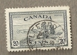 Stamps America - Canada -  Cosechadora