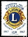 Sellos del Mundo : America : Ecuador :  LIONS( Internacional)