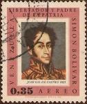 Stamps of the world : Venezuela :  Simón Bolívar - Libertador y Padre de la Pátria (José Gil de Castro, 1825).