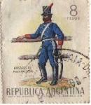 Stamps : America : Argentina :  Husares de Pueyrredon